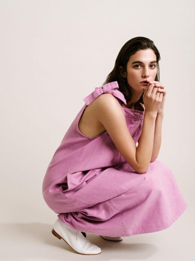 crouch pink dress