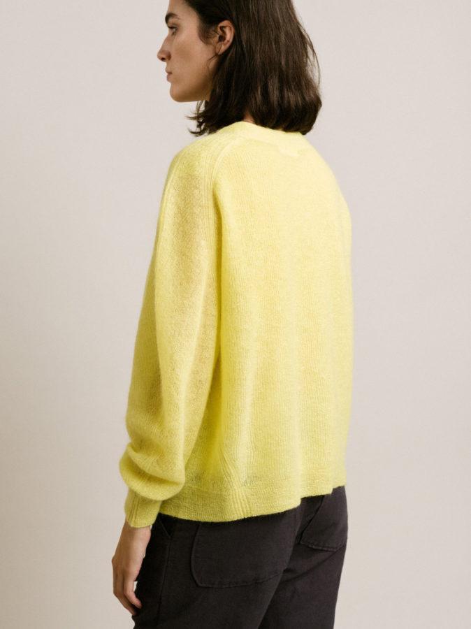 yellow sweater side